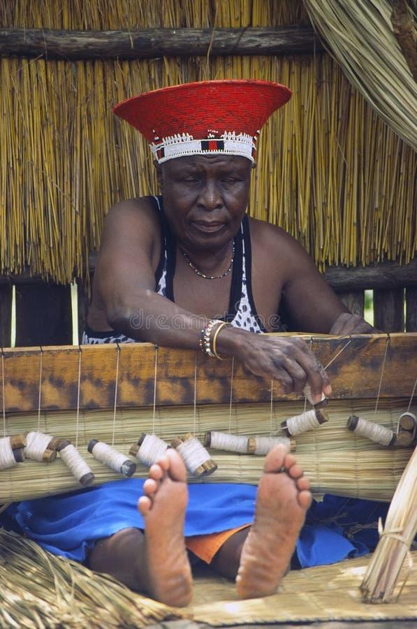 Zulu at work stock image