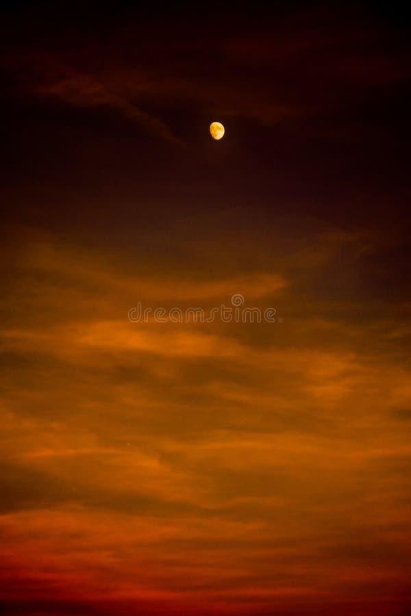 Zum Mond und zur Rückseite lizenzfreie stockfotos