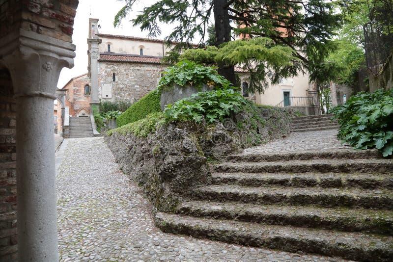 Zum Schloss von Udine, Italien stockfotos