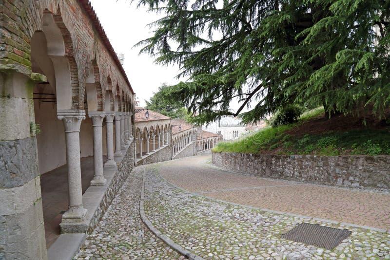 Zum Schloss von Udine, Italien lizenzfreie stockfotografie