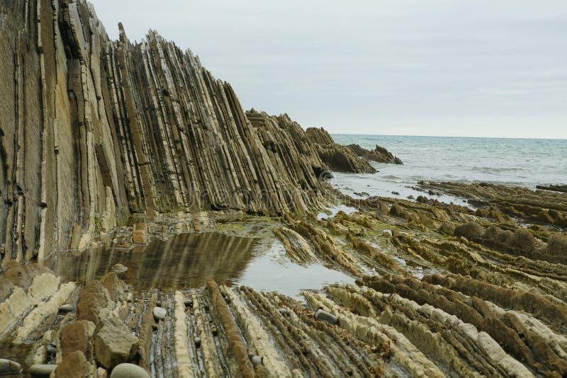 Download Zumaia stock photo. Image of geologic, seashore, fold - 7585334