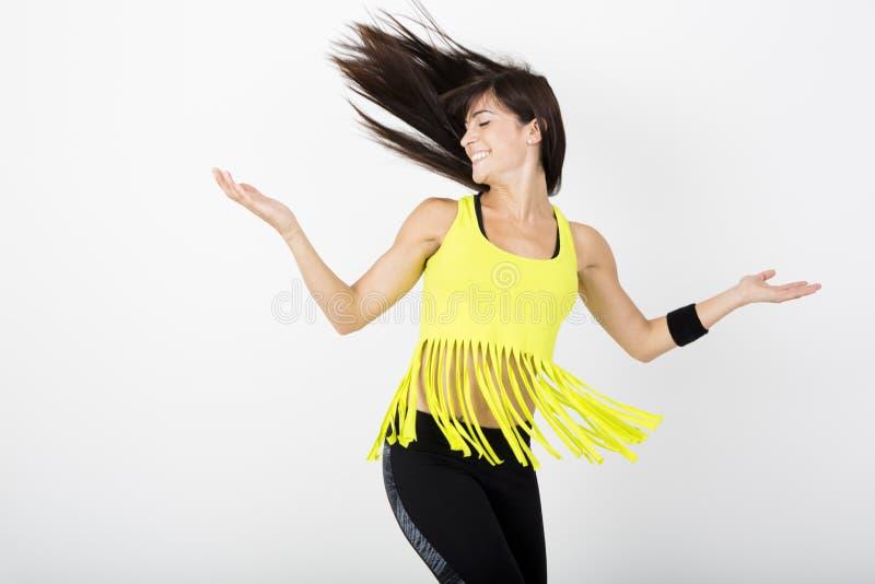 Zumba da dança da aptidão fotografia de stock royalty free