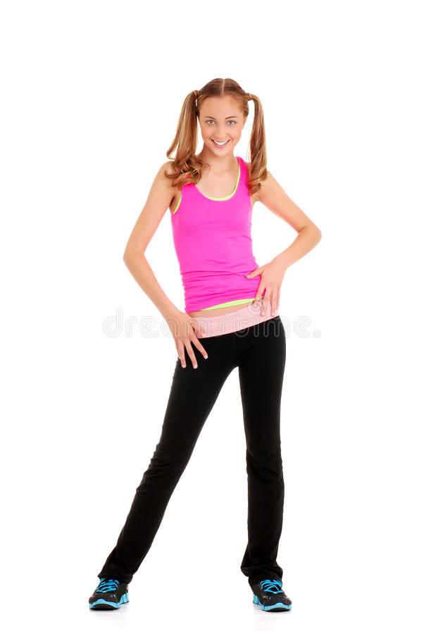zumba för genomkörare för dansflicka teen royaltyfri foto