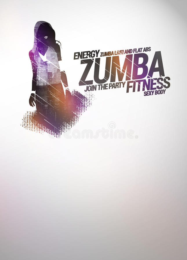 zumba party or dance training background stock