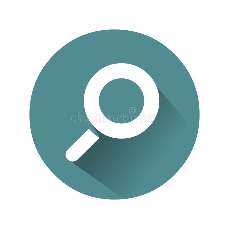 Zumbe dentro o ícone Vetor do ícone da lente de aumento ilustração do vetor