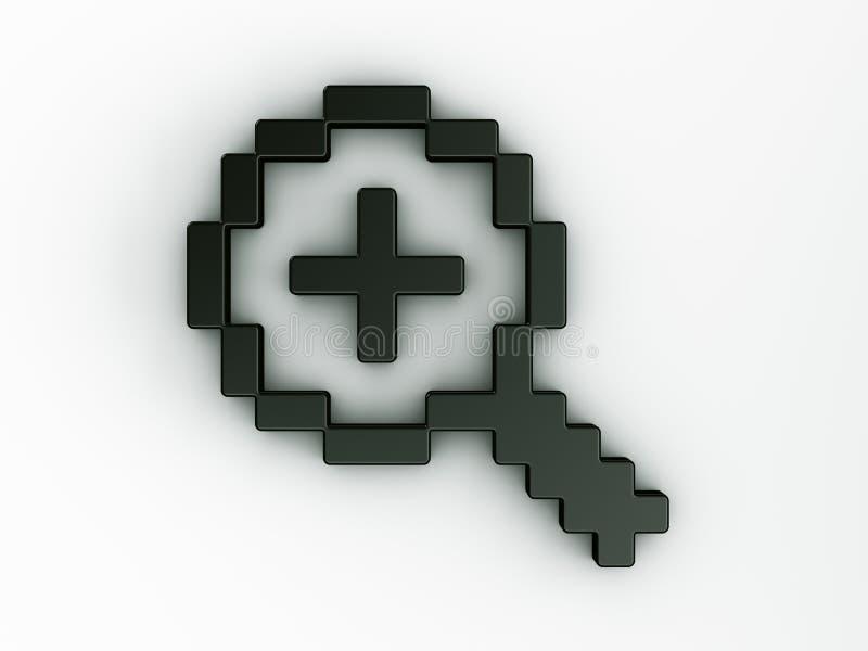 Zumbe dentro o cursor do rato em 3d ilustração royalty free