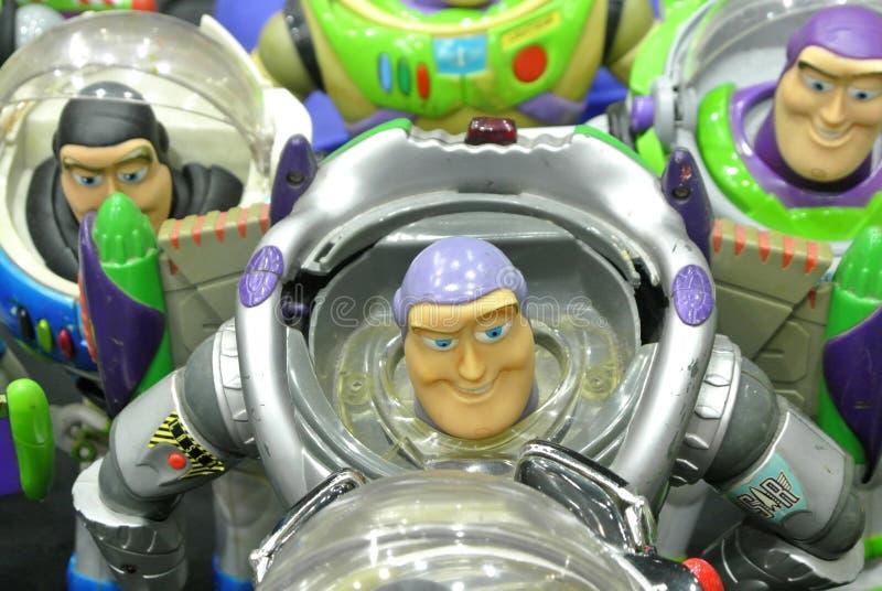 Zumbe el año ligero la figura de acción ficticia del super héroe del guardabosques del espacio fotografía de archivo libre de regalías