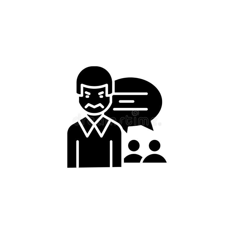 Zumbido que comercializa concepto negro del icono Zumbe el símbolo plano de comercialización del vector, muestra, ejemplo libre illustration