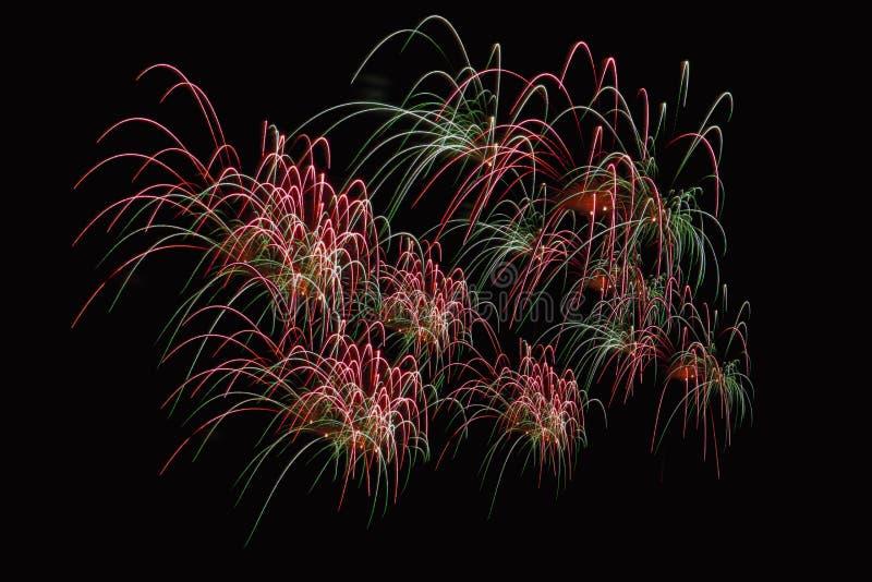 Zummi la manifestazione dei fuochi d'artificio immagine stock libera da diritti