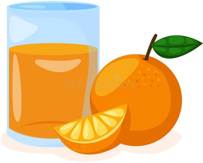 Zumo anaranjado y de naranja en un vidrio libre illustration