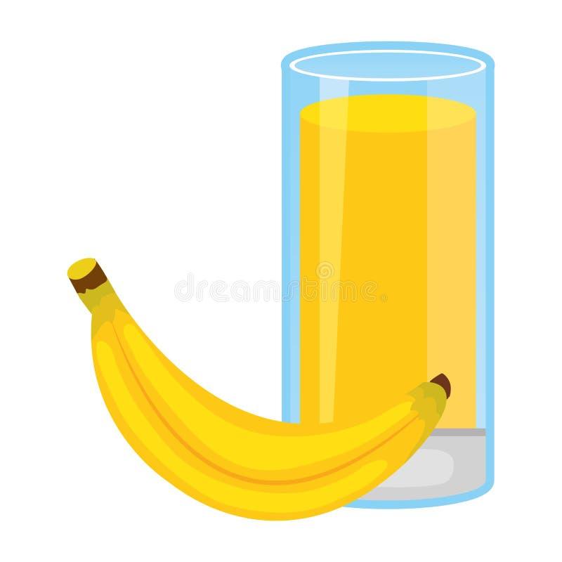 Zumo de fruta fresca del plátano libre illustration