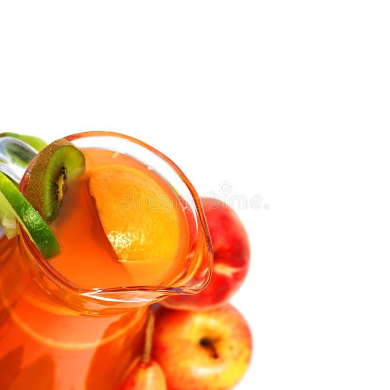 Zumo de fruta mezclado del verano foto de archivo