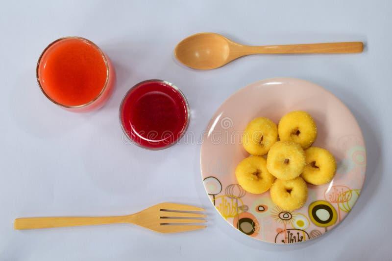 Zumo de fruta mezclado fresco fotos de archivo libres de regalías