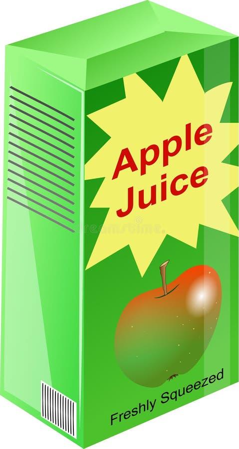 Zumo de manzana ilustración del vector
