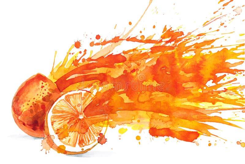 Zumo de naranja stock de ilustración