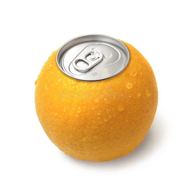 Zumo de naranja conservado imagen de archivo