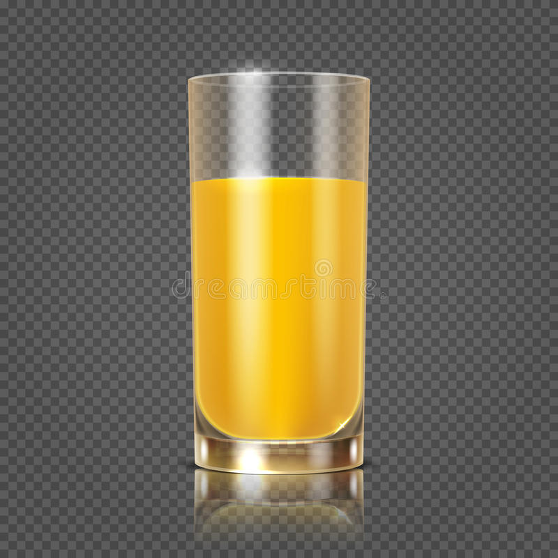 Zumo de naranja en el ejemplo de cristal del vector libre illustration