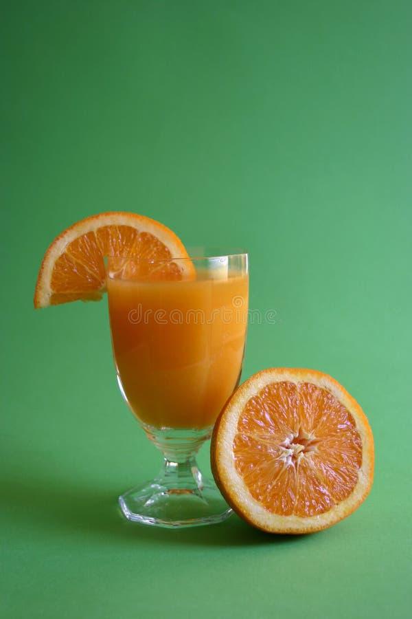 Zumo de naranja fresco foto de archivo libre de regalías