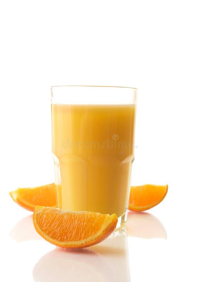 Zumo de naranja fresco fotografía de archivo