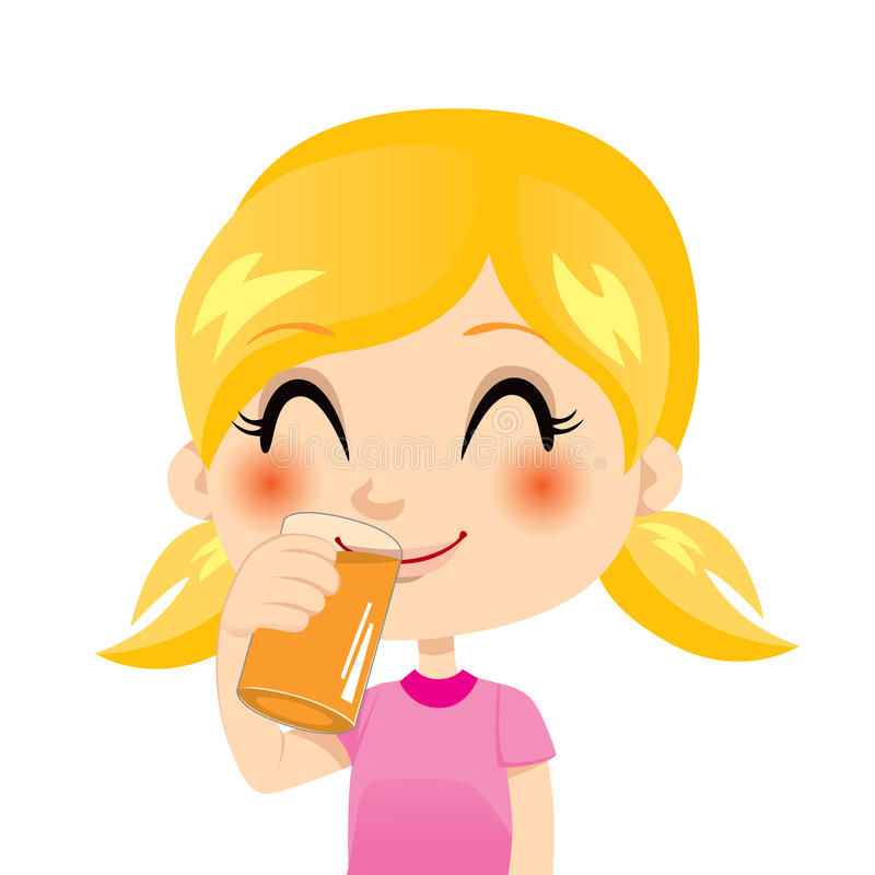 Zumo de naranja sano stock de ilustración