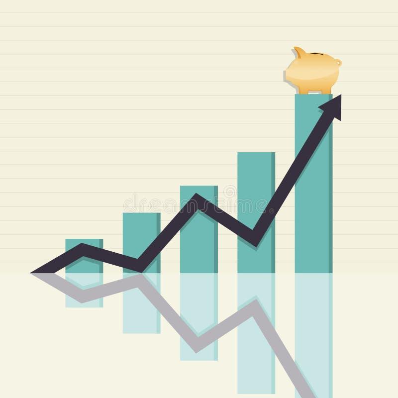 Zunehmende Einsparungen stock abbildung