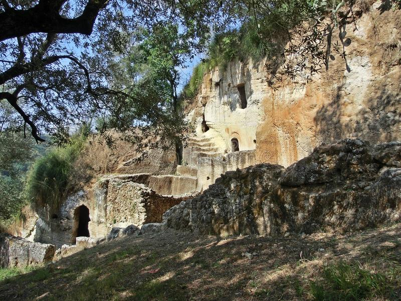 Zungri forntida by i Calabria fotografering för bildbyråer