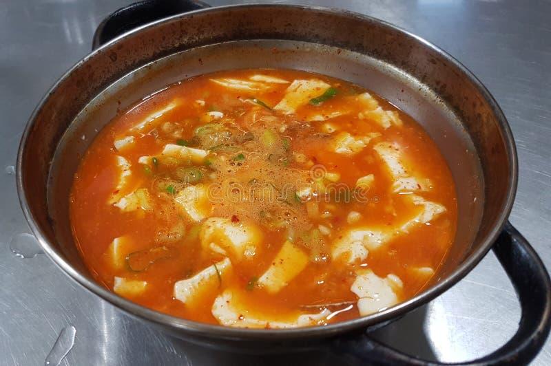 Zupa koreańska Soft Tofu zdjęcia stock