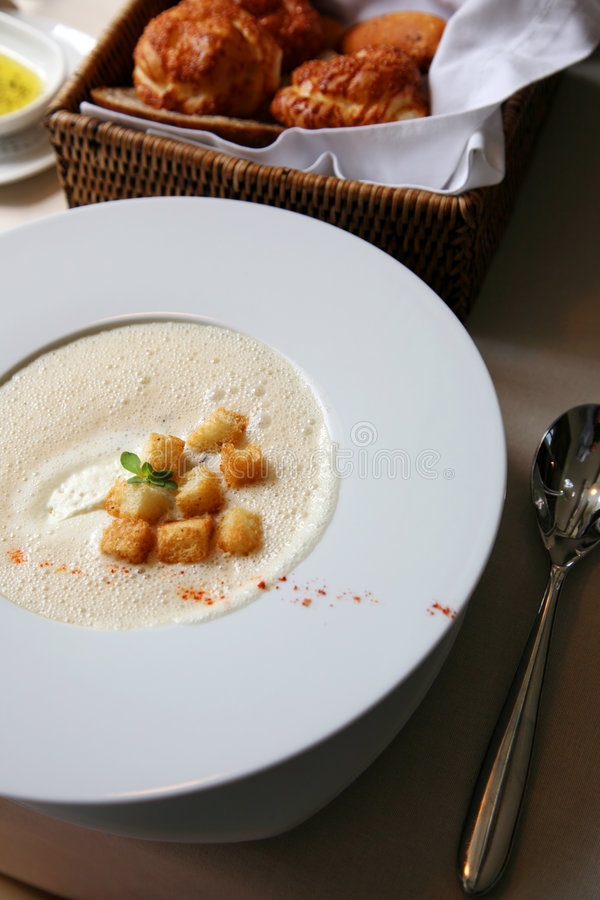 zupa tablicach fotografia stock