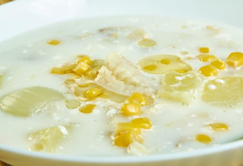 Zupa z kukurydzy cukrowej obraz royalty free