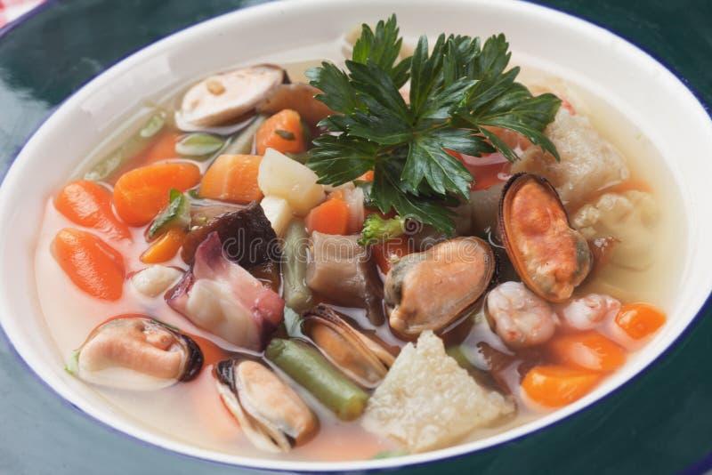 zupa z owoców morza obraz royalty free