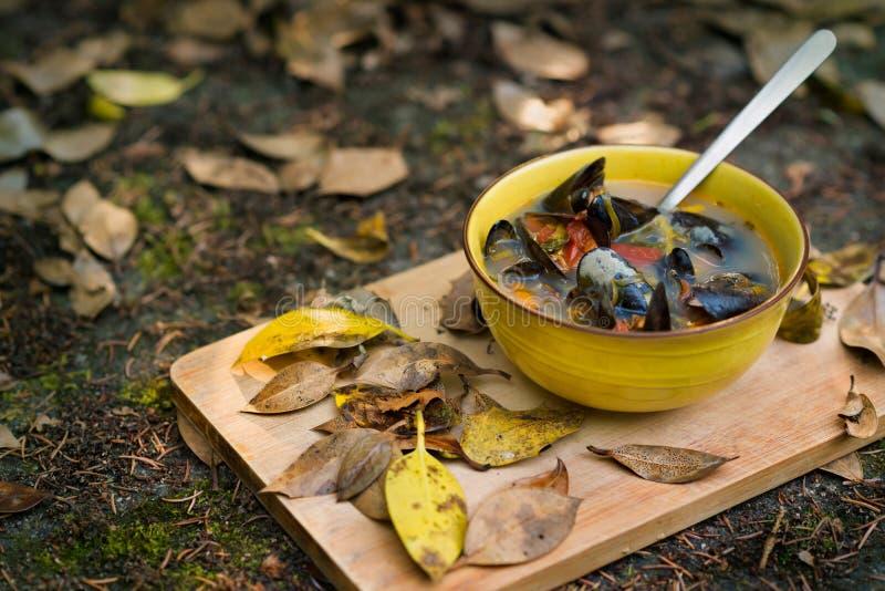 zupa z owoców morza zdjęcia stock