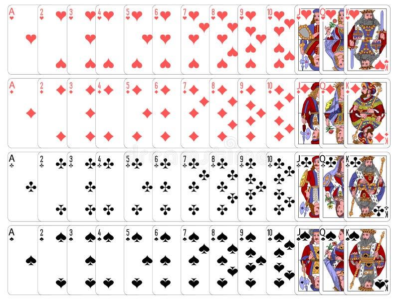 Zupełny karta do gry gry set zdjęcie royalty free