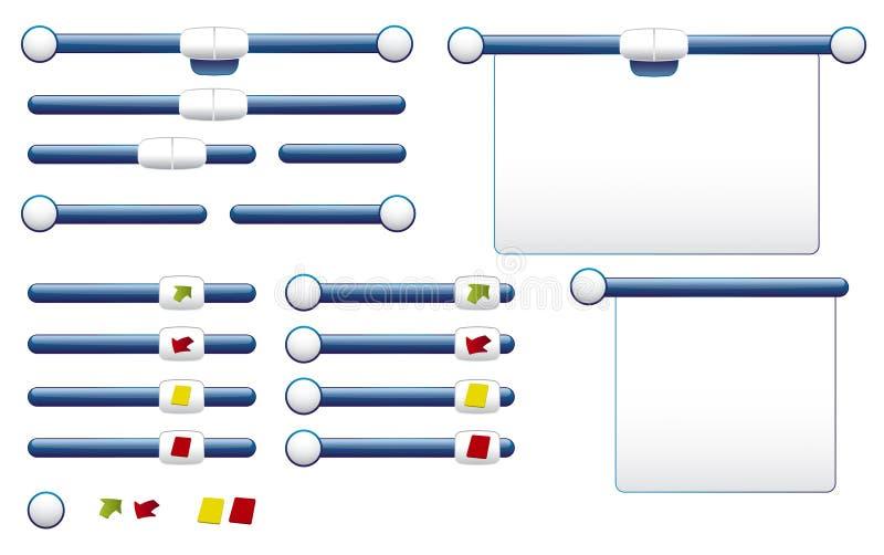 zupełnych etykietek juczna tablica wyników royalty ilustracja