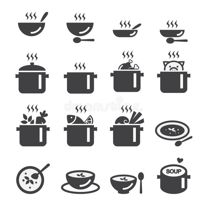Zupna ikona royalty ilustracja