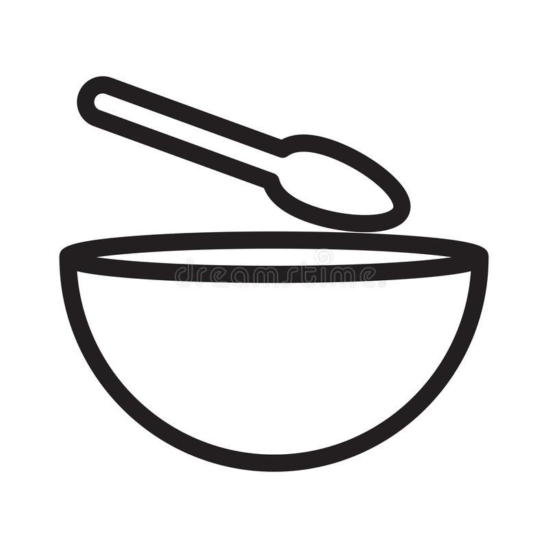 Zupnego pucharu cienka kreskowa wektorowa ikona ilustracji