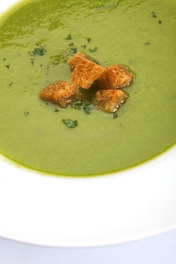zupni szparagowi croutons zdjęcia stock