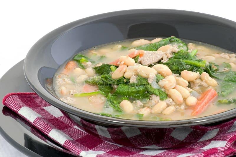 Zuppa di fagioli calorosa fotografie stock libere da diritti