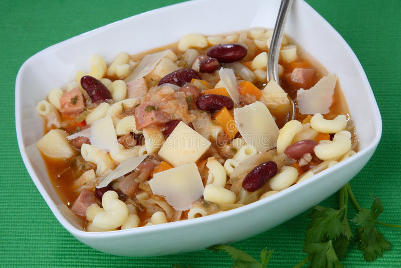 Zuppa di fagioli di verdure fotografia stock