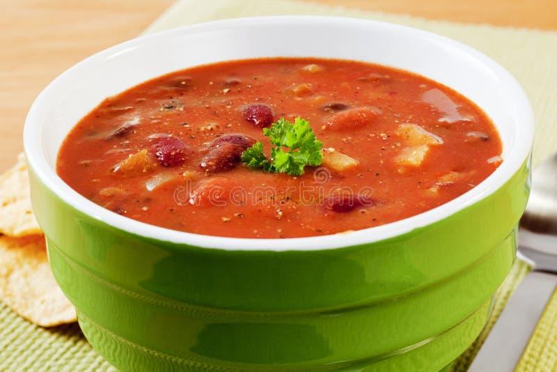 Zuppa di fagioli messicana piccante fotografia stock
