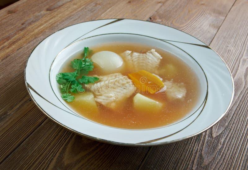 Zuppa di pesce fotografia de stock