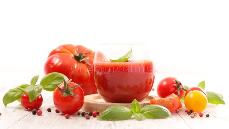 Zuppa di verdure fredda, minestra del pomodoro o salsa immagine stock libera da diritti