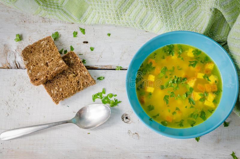 Zuppa Imperiale - soupe italienne photo libre de droits