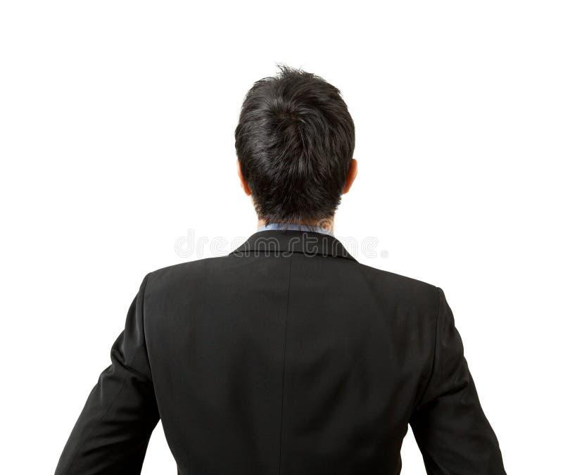 Zurück vom Geschäftsmannschauen lizenzfreies stockfoto