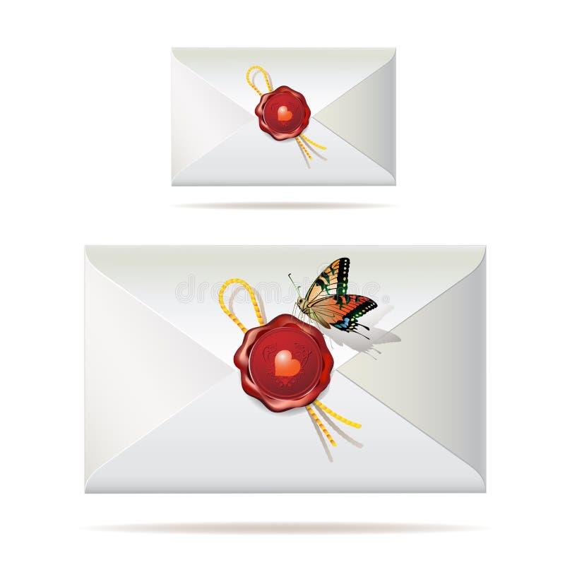 Zurück vom Umschlag lizenzfreie abbildung