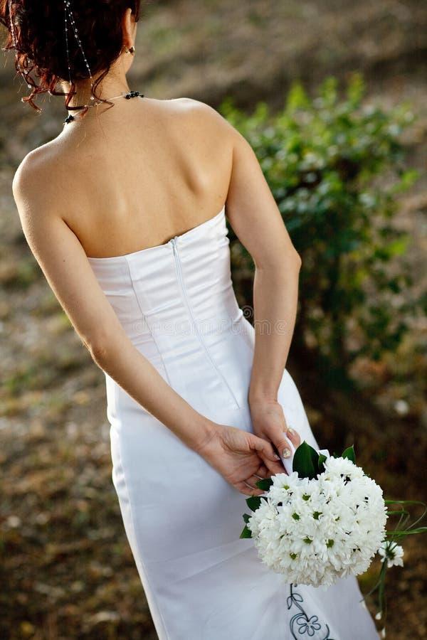 Zurück von der Braut lizenzfreie stockfotografie