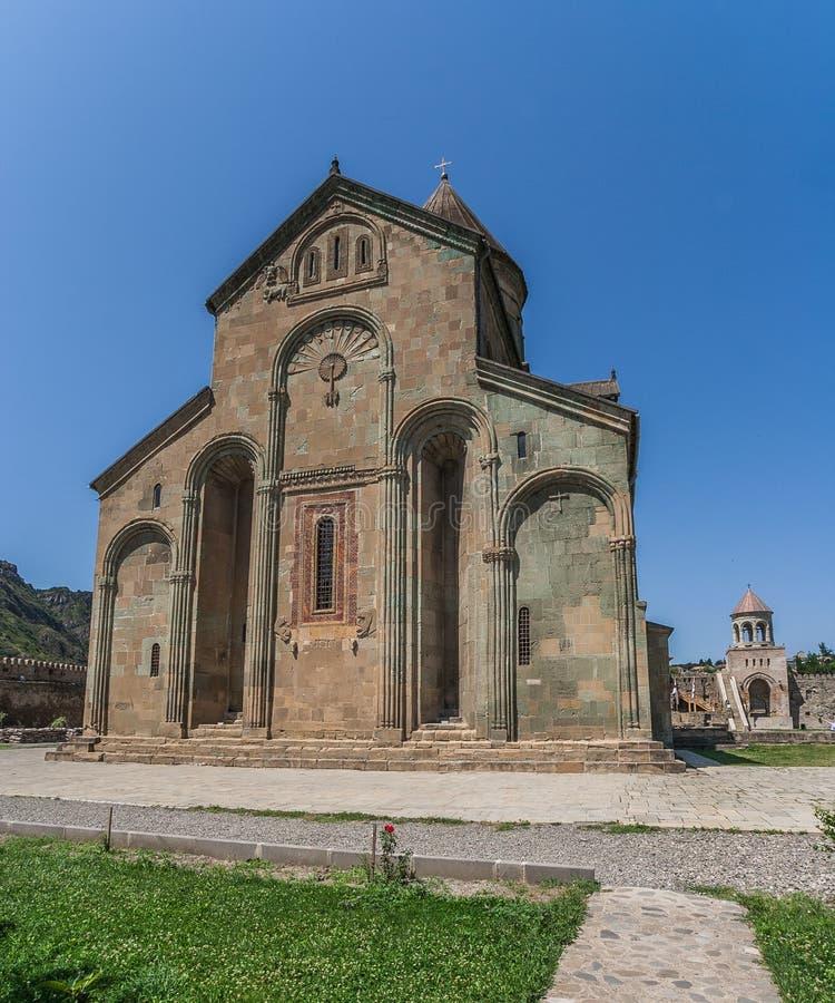 Zurück von der Sveti-Tskhoveli Kathedrale stockfotografie