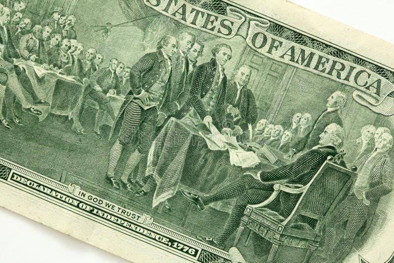 Zurück Von Einem Zwei Dollarschein Lizenzfreie Stockbilder