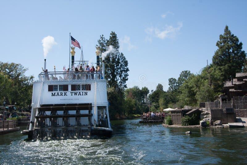 Zurück von Mark Twain Riverboat bei Disneyland, Kalifornien lizenzfreie stockfotografie