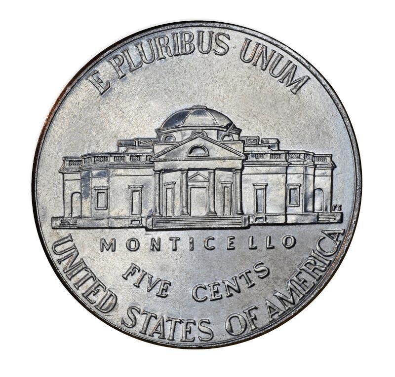 Zurück von Nickel Vereinigter Staaten stockbild