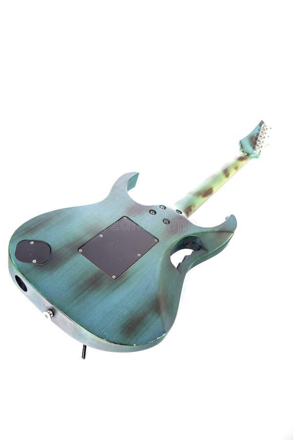 Zurück von roadworn moderner E-Gitarre stockbilder